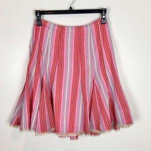 Nanette Lepore Skirt Metallic Thread